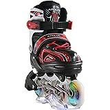 Apollo Super Blades X PRO, Misura S, M, L, Pattini Inline-Skate LED, Rollerblade per Bambini, Ideali per Principianti, Pattin