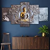 Saumic Craft Set Of 5 Wall Painting With Frame For Home Decoration , Living Room , Office , Hotel Big Size Wall Decor With A