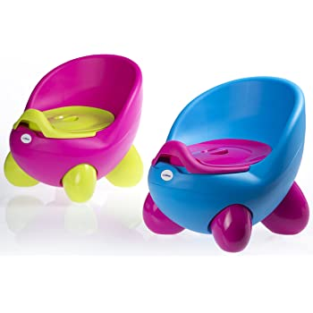 Potty Chair, Baby Potty, Children's Potty by LuvdBaby | Removable, Easy Clean, Inner Potty with Lid | High Back Rest, Comfortable Ergonomic Design | Non-Slip Feet | 2 Funky Designs for Potty Training your boy or girl – for happy toddler potty training!