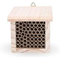 INGARDO Insektenhaus aus Holz - Insektenhotel zum Aufhängen mit hochwertigen Papierrohren -Nistkasten für Bienen, Schmetterlinge, Florfliegen und andere Nützlinge (inkl. gratis ebook)