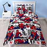 Spiderman Ultimate Metropolis Single Duvet Cover | Reversible Two Sided Design | Kids Bedding Set Includes Matching…