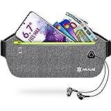 Akalas Laufgürtel für Handy, wasserdichte Sport Hüfttasche, ultraleichte Bauchtasche mit verstellbaren Gummiband, abprallfrei