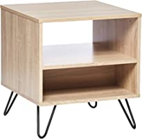 Maison Concept Mona Side Table Cabinet, Beige - W480 x H514 x D480 mm