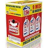 Omino Bianco - Detersivo Lavatrice Igienizzante Liquido, 156 Lavaggi, Igienizza i Capi e Rimuove Germi e Batteri, Formato Con