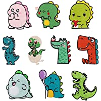 Toppe termoadesive ,10 pezzi Toppe Dinosauro toppe ricamate per toppe, Patch Decorative, Dinosauri Toppe Applique toppe…