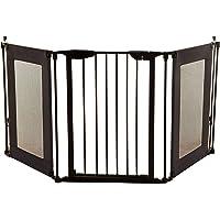 Dreambaby Denver 3 Panel Safety Adapta-Gate Black, Mesh/Metal ,85.5 - 210 cm