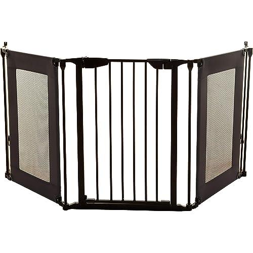 Dreambaby Cancelletto di sicurezza regolabile per camino Denver Adapta-Gate (adatto ad aperture da 85,5cm a 210cm), nero