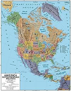 America Settentrionale Cartina Geografica Politica.Carta Geografica Murale America Settentrionale 100x140 Bifacciale Fisica E Politica Amazon It Cancelleria E Prodotti Per Ufficio