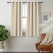 AmazonBasics Room - Darkening Blackout Curtain Set with Grommets - 42