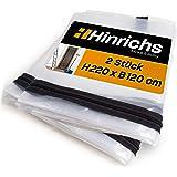 Hinrichs 2 x Stofdeuren met Rits - Stofdeur Rits Transparant - 220 x 120 cm Grote Deur - Voor Renovatie Ombouw Sanering