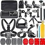 Navitech 18 in 1 Action Kamera Zubehör Combo Kit mit Eva Case kompatibel mit dem GoXtreme Black Hawk+ 4K Action Camera