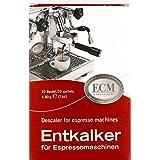 ECM Ontkalker speciale ontkalker voor espressomachines zeefhoudermachines, 10 zakken van elk 30 g