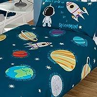 Système solaire pour enfant avec housse de couette et taie d'oreiller