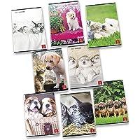Pigna Maxi Quaderni A4 Dolci Cuccioli, Confezione da 10 Pezzi, 02307694M, Quadretti 4 mm