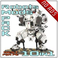 10 in 1. Robots Mods Pack For PE