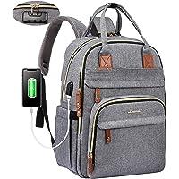 LOVEVOOK Laptop Rucksack Damen Anti-Diebstahl mit codiertes Schloss, Damen Rucksack groß mit USB Ladeanschluss…