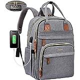 LOVEVOOK Laptop Rucksack Damen Anti-Diebstahl mit codiertes Schloss, Damen Rucksack groß mit USB Ladeanschluss Schulrucksack
