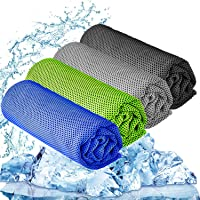 YQXCC 3 Pcs Cooling Towel (120x30 cm) Cool Cold Towel for Neck, Microfibre Ice Towel, Soft Breathable Chilly Towel for…