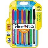 Paper Mate InkJoy 100 CAP Lot de 10 Stylos bille pointe moyenne Couleurs Assorties