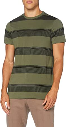 Amazon Brand - find. Men's T-Shirt Contrast Stripes and Short Sleeves