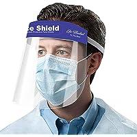 Go Hooked Reusable Safety Face Shield, Anti-fog Full Face Shield, Universal Face Protective Visor for Eye Head Protection, Anti-Spitting Splash Facial Cover for Women, Men (10 Pcs)