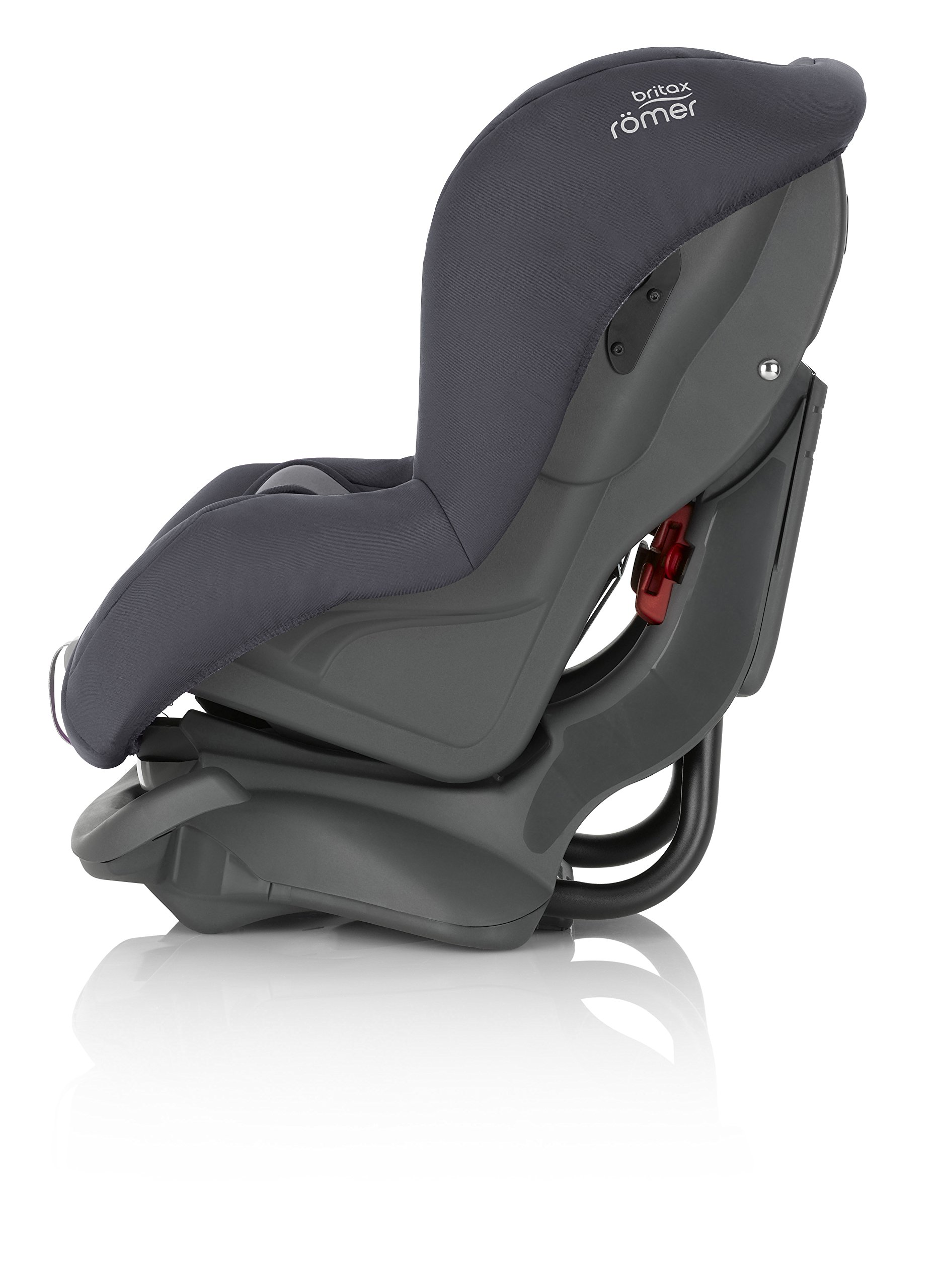 Britax Römer FIRST CLASS PLUS Group 0+/1 (Birth-18kg) Car Seat - Storm Grey  Extended recline position when rearward facing - the safest way to travel Reassurance built-in - Click and safe harness tensioning confirmation High quality protection - side impact protection Plus performance chest pads and pitch control system 2