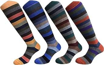 CriCri Socks Set 4 Paia Calze Lunghe Uomo in Caldo Cotone Alta Qualità Made in Italy - Taglia Unica