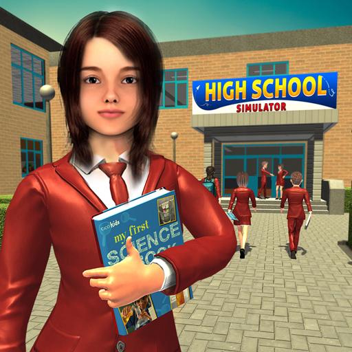 School-Mädchen-Simulator-Spiel, virtuelle Leben-Schule-Abenteuer-Spiele 3D (Spiele Leben)
