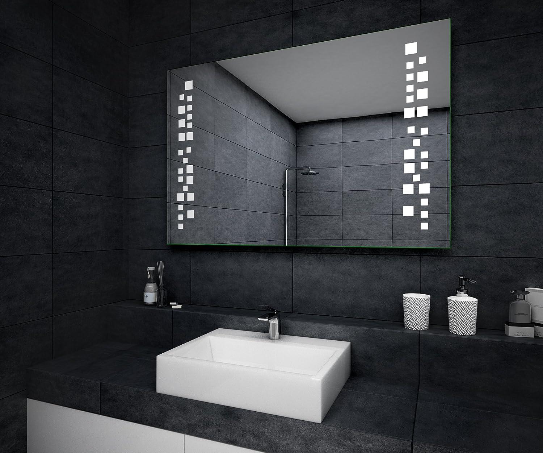 Neu Design Badspiegel mit LED Beleuchtung Wandspiegel  HG27