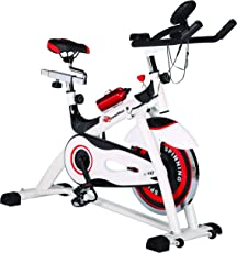 Powermax Fitness BS-155 - Group Exercise Bike with 15kg Flywheel & LCD Monitior