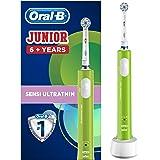 Oral-B Junior Brosse à Dents Électrique Rechargeable pour Enfants de 6 Ans et Plus, Verte
