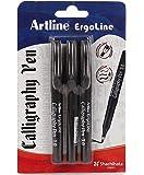 Artline Ergoline Calligraphy Pen Set with 3 Nib Sizes - Pack of 3 (Black)