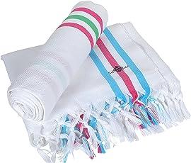 Sathiyas Supreme Turkish 480 GSM Cotton Bath Towel (Set of 2)