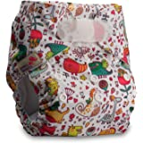 Littles /& Bloomz with 10 Bamboo Inserts V1007bb1 Fastener: Hook-Loop Reusable Pocket Cloth Nappy
