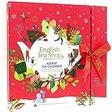 English Tea Shop Organic Book Style Red Advent Calendar - 25 Loose Leaf Tea Pyramid Bags - 13 Different Flavours., 50 g ,U060