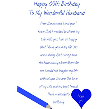 Husband 65th Birthday Card