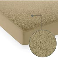 "Cloth Fusion Saviour Terry Water Proof Mattress Protector- 72""x36"" - Single, Beige"