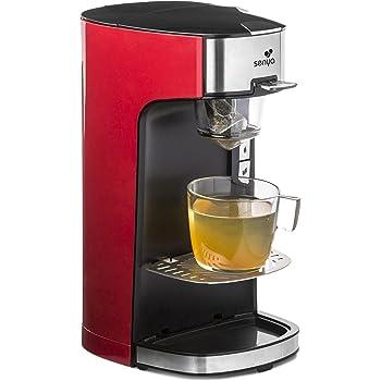 Senya SYBF-CM013 Machine à Thé Tea Time rouge Théière Électrique Compatible Thé en Vrac ou en Sachet avec infuseur Amovible 1415 W