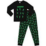 The Pyjama Factory Brand Emote Legend Dance Gaming All Over Gaming Negro Verde Algodón Pijama Largo