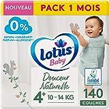 Lotus Baby Zachte natuurlijke luiers, maat 4+ (10-14 kg) 1 maand - 140 luiers