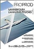 PROPROD Premium Pack de 100 Pochettes de plastification A3 125 microns finition brillante Transparent