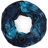 styleBREAKER sciarpa loop unisex con motivo colorato batik e strappi in destroyed look, sciarpa mobrida 01017126