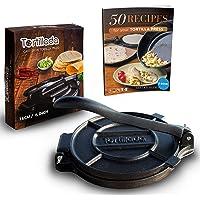 Tortillada Presse-tortilla en fonte avec recettes Ebook en français (16cm)