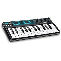 Alesis V-Mini - Clavier Maître USB-MIDI Portable, 25 Touches, 4 Pads de Percussion Sensibles Rétroéclairés, 4 Encodeurs Assignables, et Suite de Logiciels Professionnels avec ProTools | First Incluse