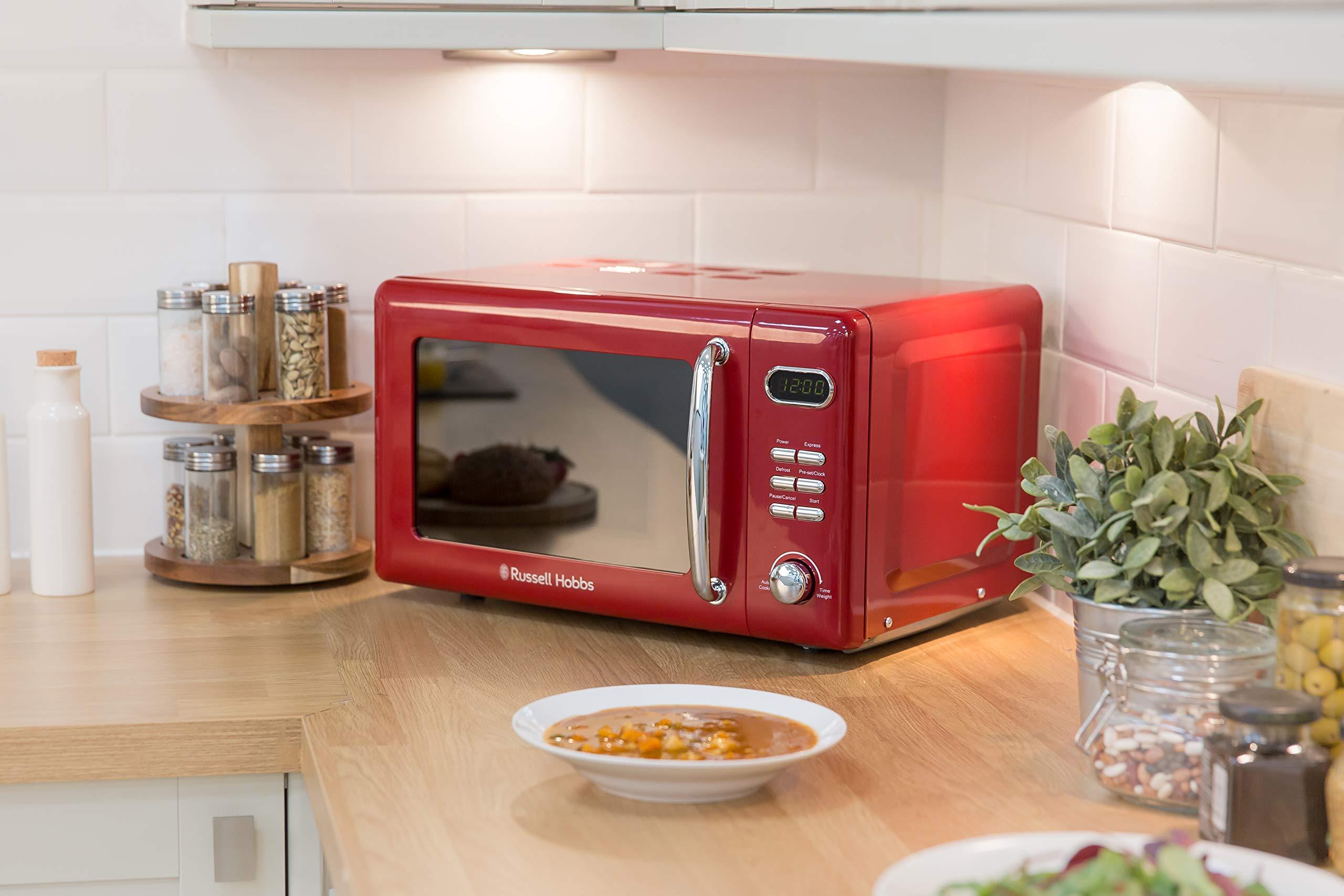 81dlYqgJ NL - Russell Hobbs RHRETMD806R Solo Microwave, Red, 17 liters