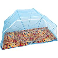 Elegant Mosquito Net 3*6 Feet Single Size Bed Foldable Mosquito Net- Polynet (Blue Color)