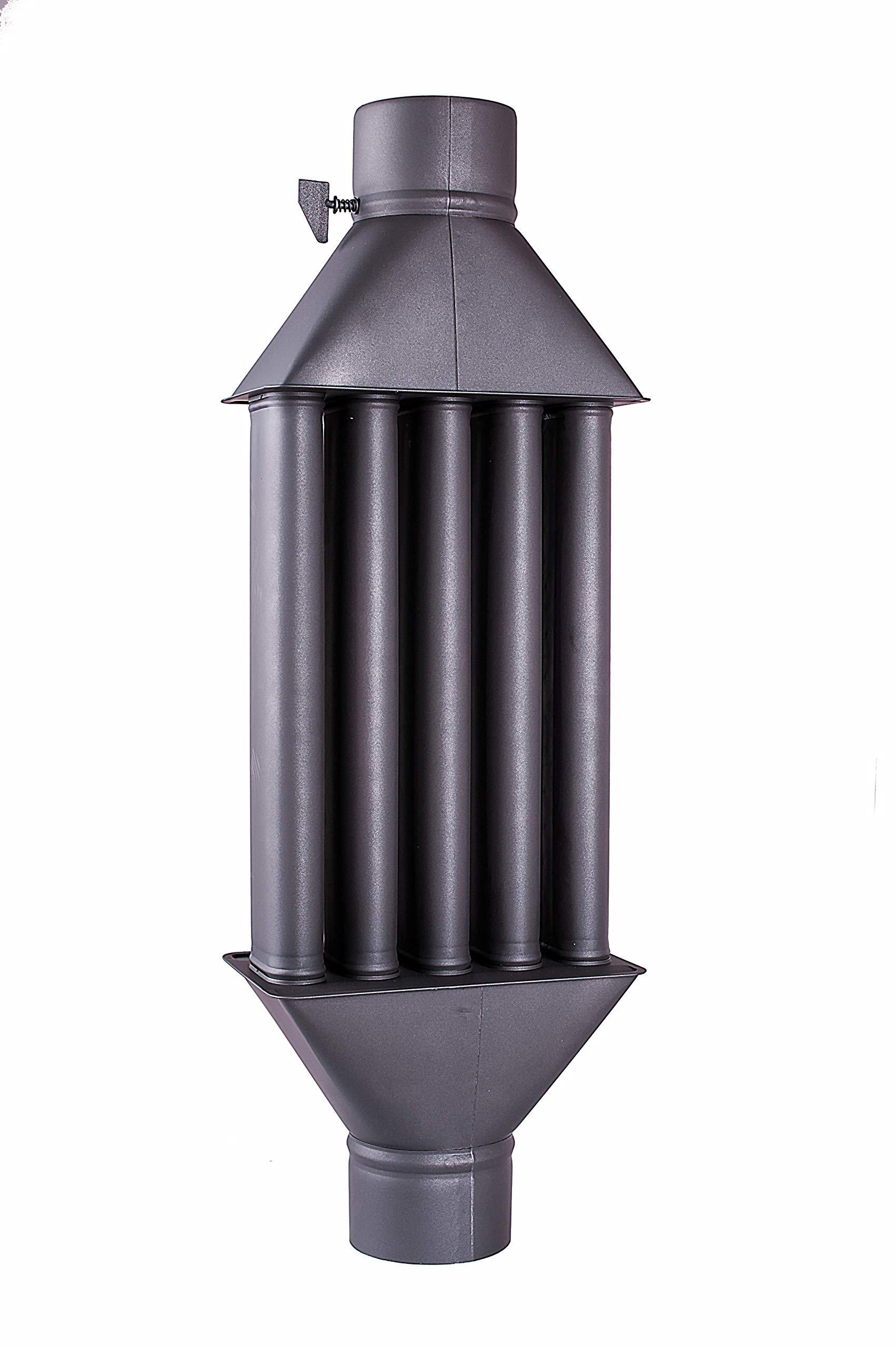 Scambiatore Di Calore Per Scambiatore Di Calore Camino Camino Fumi Diplomatico Raffreddatore Gas Di Scarico Nero Diametro Xl 130 Mm 5 Tubi Con