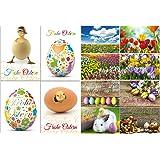 """""""FRÜHLING- & OSTERKARTEN"""" Postkarten-Set (12 St.) von EDITION COLIBRI © - ein bunter Mix aus lustigen Osterpostkarten, Blumenkarten sowie nostalgischen Grusskarten für Ostern"""