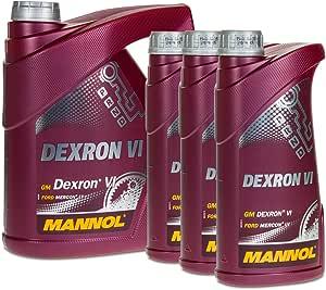 Mannol 4 3 7 Liter Dexron Vi Atf GetriebeÖl Auto