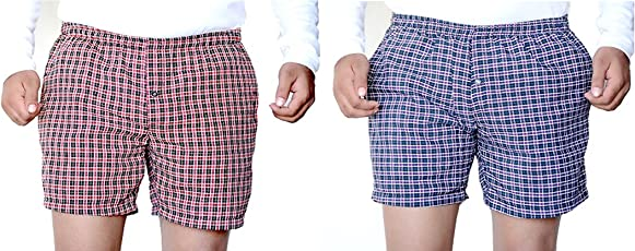 Games On Doors Checked Men Boxers- Pack of 2
